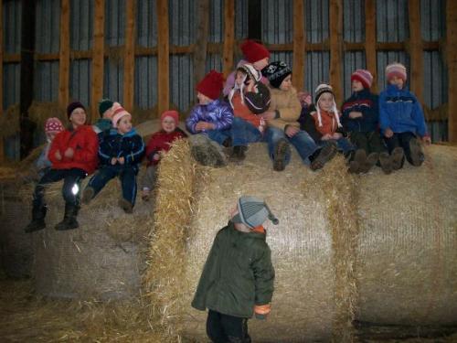 Výroba oveček proNečtinský betlém prosinec 2009
