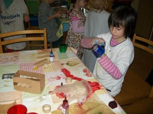 Výroba svícnů sp. Chlupovou 15.12.2009