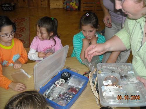 Pletení zkorálků apedigu 08.10.2008