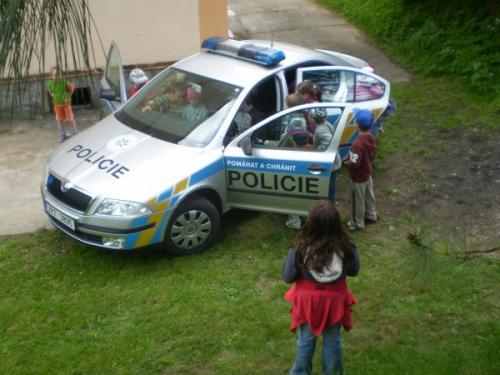 Návštěva Policie ČR 10.6.2009